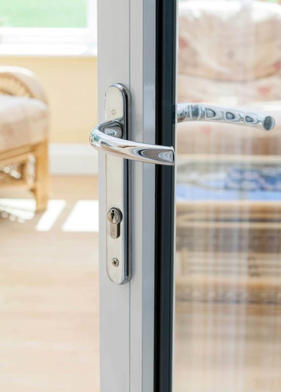 Bifold door handle in chrome