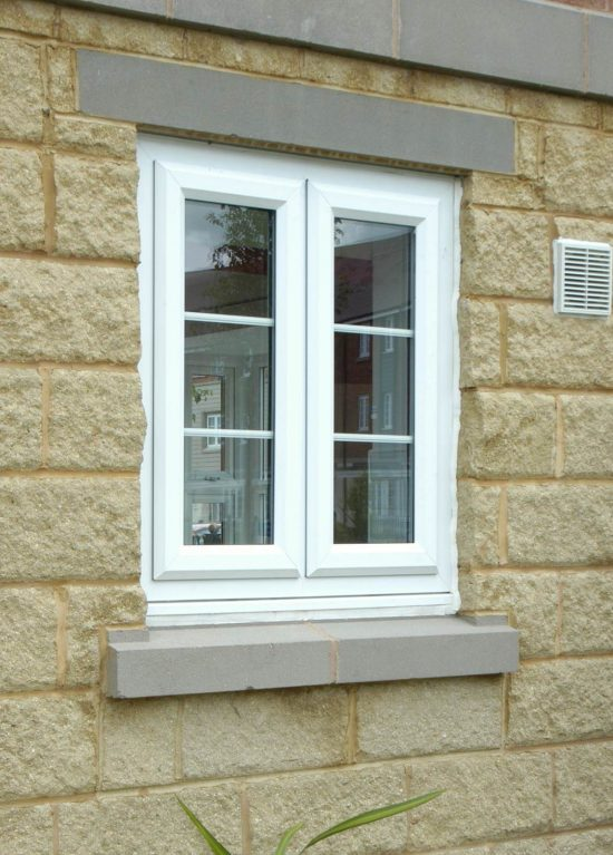 Chamfered style casement window