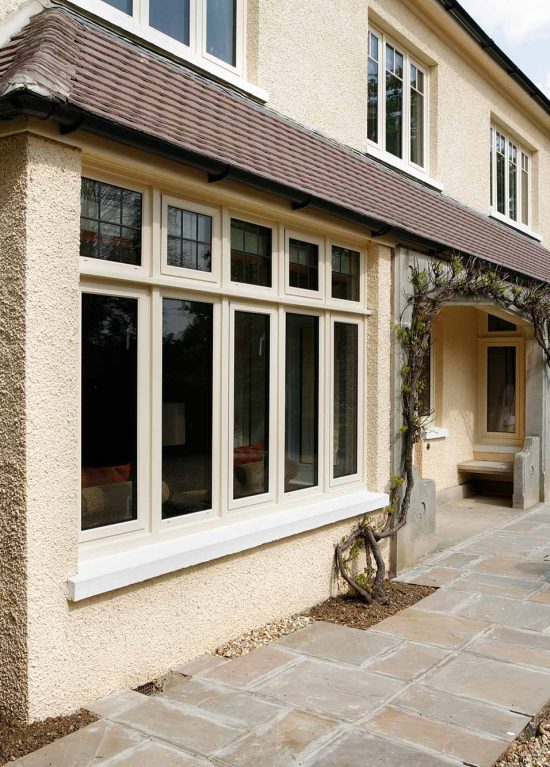 Coloured aluminium windows with double glazed units