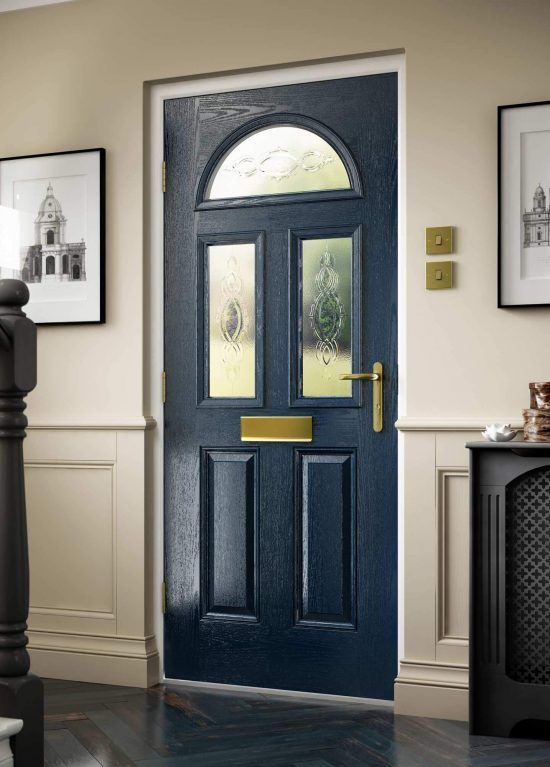 Composite door with efficient foam core