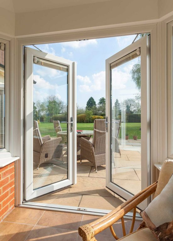 Energy efficient uPVC french doors