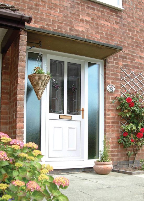 Front door with decorative double glazed units