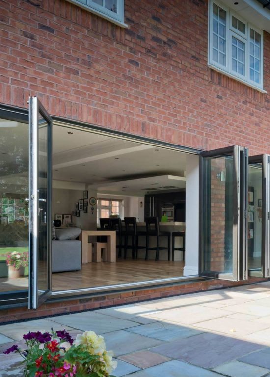 Grey uPVC bifold doors