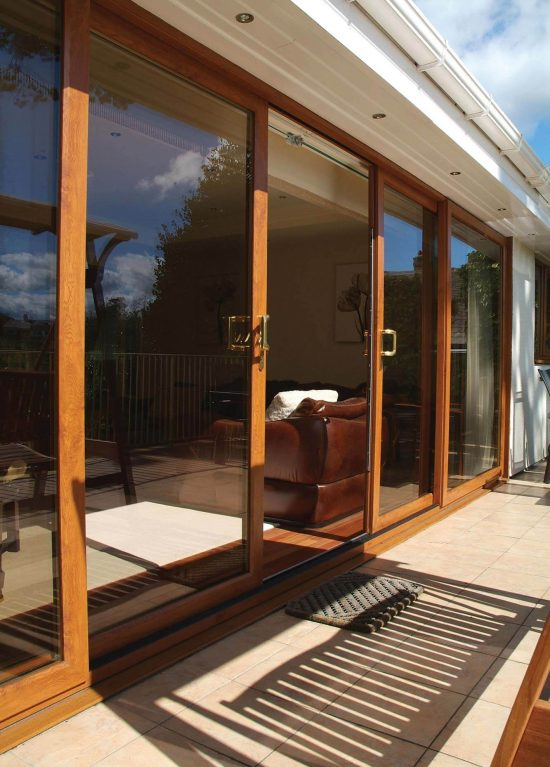 Sliding patio door in uPVC