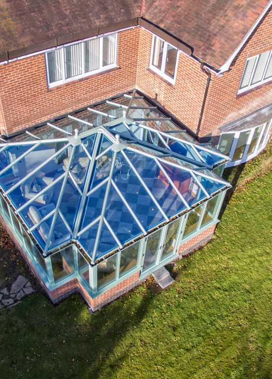 Large t-shape conservatory on large extended home