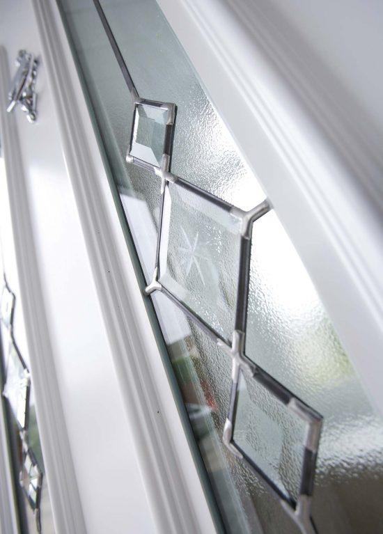 uPVC door with bevelled glazed units