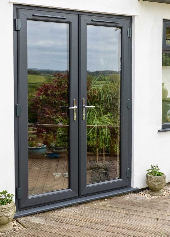 uPVC double patio doors