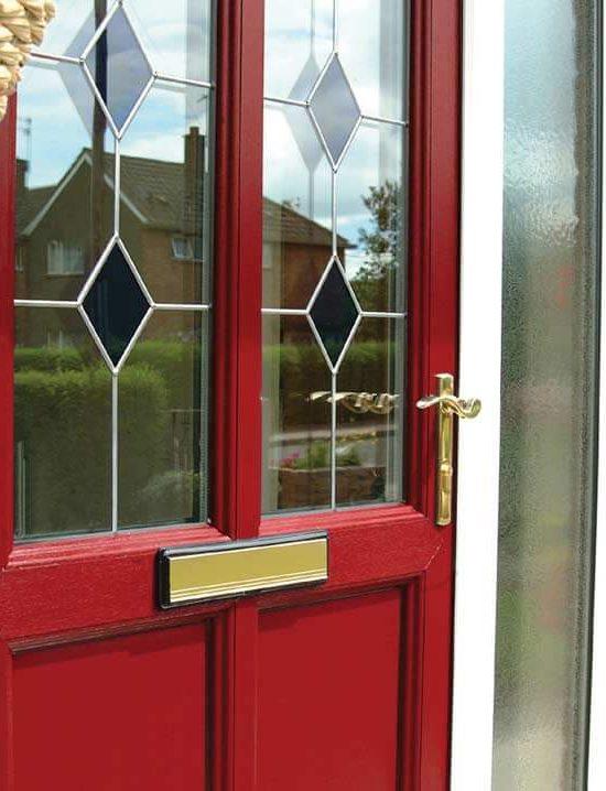 Red uPVC entrance door