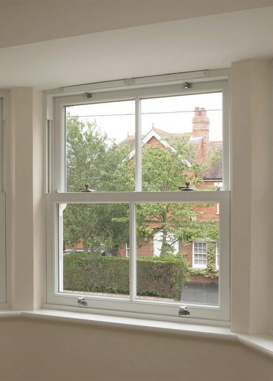Internal view of some traditional style sliding sash windows