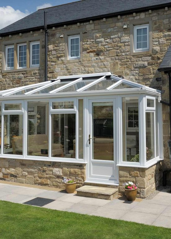 White georgian style conservatory