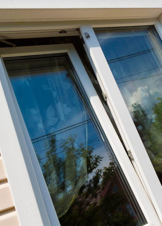 A white uPVc tilt and turn window