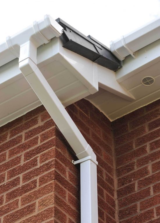 White upvc guttering solution for newer property