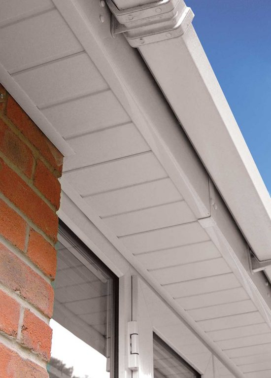 Replacement uPVC soffits in white