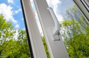 Tilt and turn window in white uPVC profile